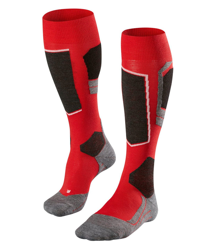 Falke SK4 Mens Ski Socks in Red