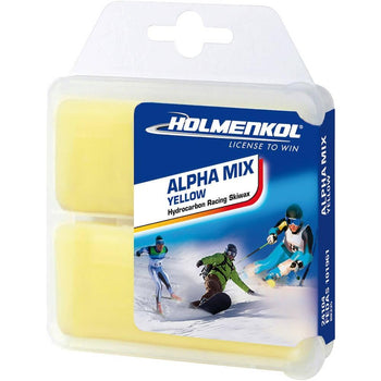 Holmenkol Wax Holmenkol Alpha Mix Ski & Snowboard Iron On Hot Wax 2x35g Yellow AlphaMix