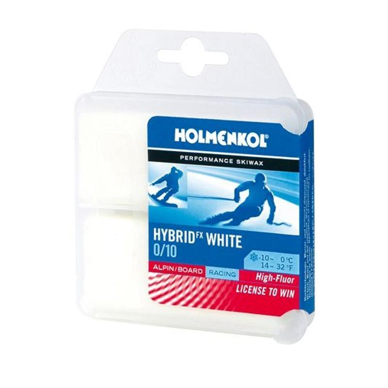 Holmenkol Wax Holmenkol Hybrid FX White Racing Ski and Snowboard Wax 2 x 35g