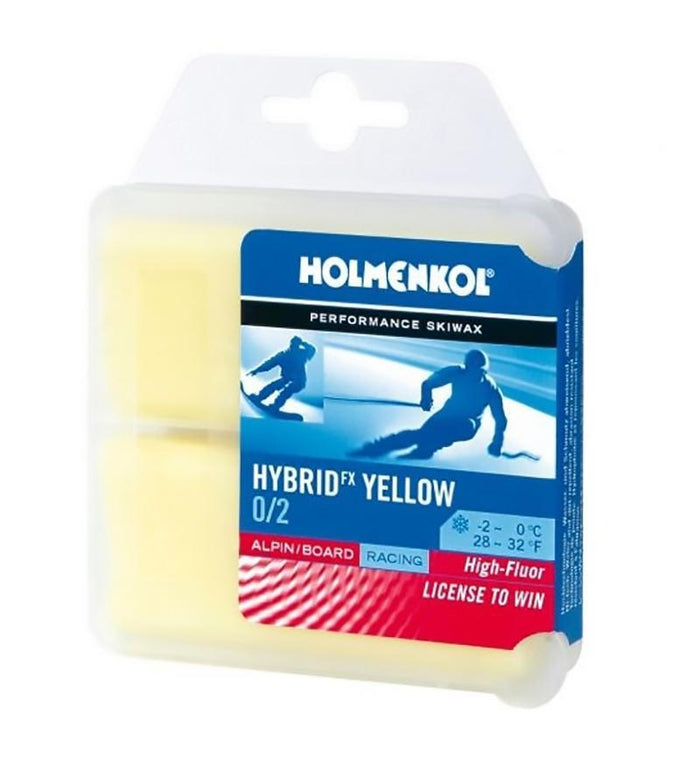 Holmenkol Wax Holmenkol Hybrid FX Yellow Race Ski Wax - 2 x 35g Blocks