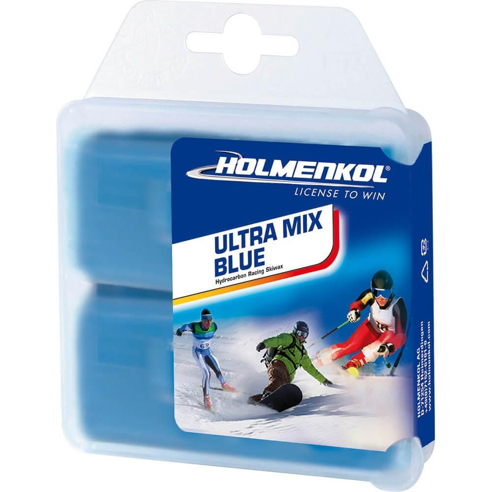 Holmenkol Wax Holmenkol Ultra Mix Wax Ski & Snowboard Hot Wax 2x35g Blue UltraMix