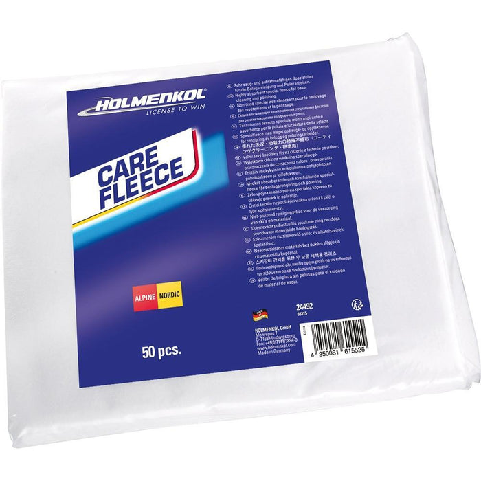 Holmenkol Workshop Tools Holmenkol CareFleece Base Cleaning & Polishing Cloth - Special 50 Sheet Pack