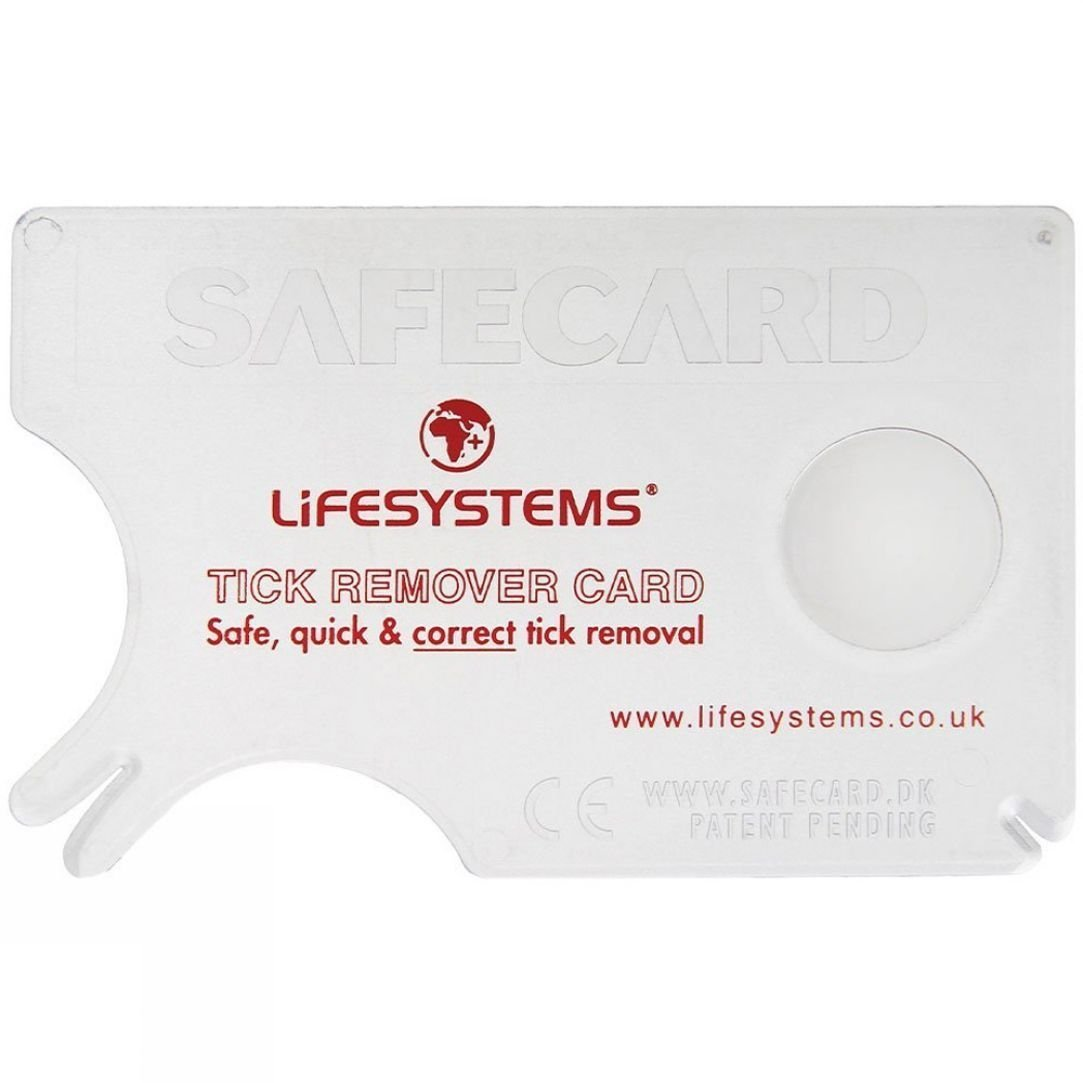 LifeSystems Outdoor Lifesystems Tick Removal Card Tweezers for Humans and Dogs by Safe Card