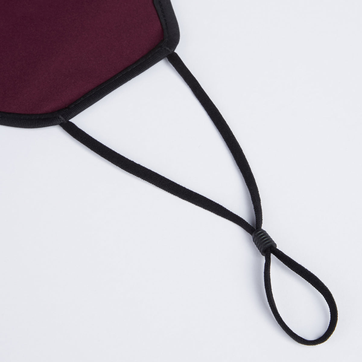 Face Mask Reusable Travel Mask with FREE Replaceable Filter - Burgundy Red with Black Trim