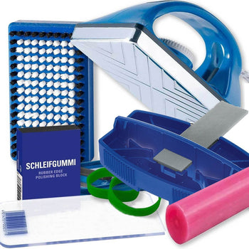 Ski & Snowboard Wax Workshop Tools Ski Wax Kit - Edge & Wax Starter Kit for Waxing & Tuning Skis