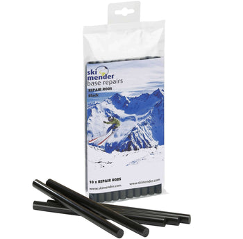 SkiMender Base Repair Ski Mender P-Tex Black Repair Rods for Base Repair Guns - 10 Pack