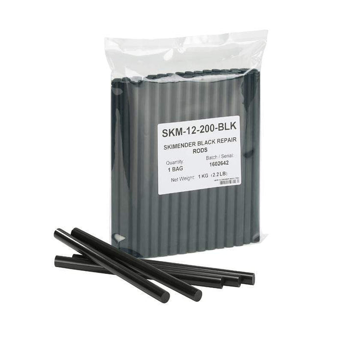SkiMender Base Repair Ski Mender P-Tex Black Repair Rods for Base Repair Guns - 1KG Workshop Pack
