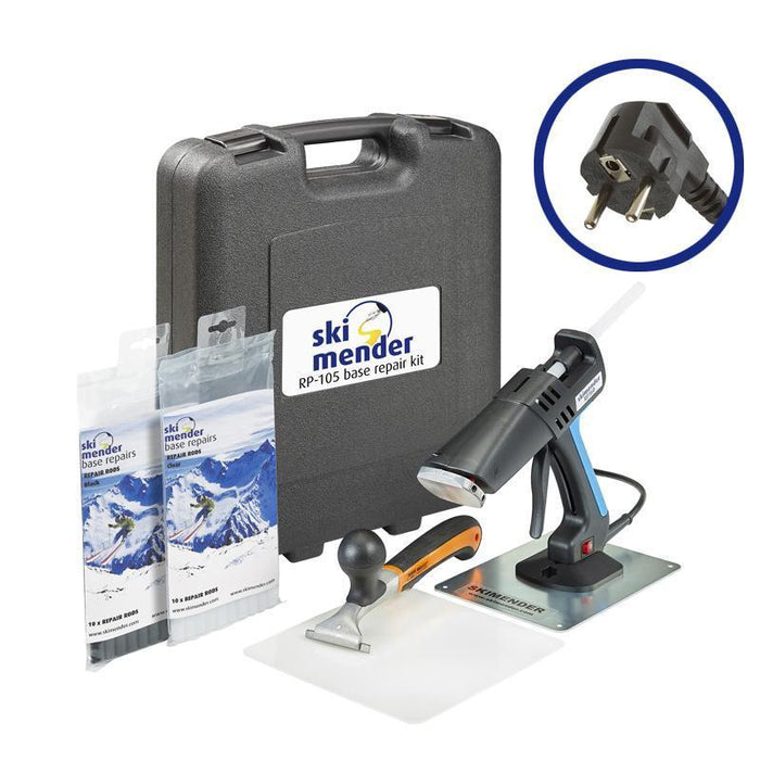 SkiMender Base Repair Ski Mender RP360 Ski and Snowboard Base Advanced Repair Kit - EU Plug