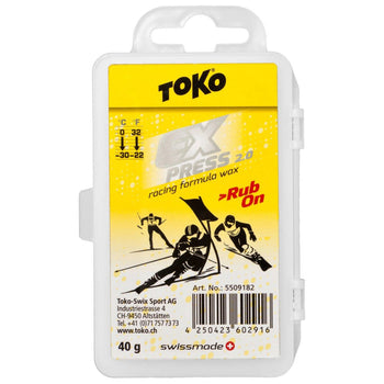 Toko Wax Toko 40g Express 2.0 Ski Racing Formula Rub On Wax with Cork Pad