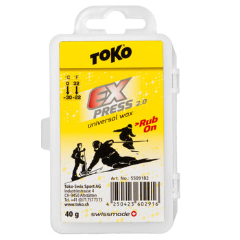 Toko Wax Toko Express 2.0 Rub-On Universal Ski & Snowboard Wax Kit
