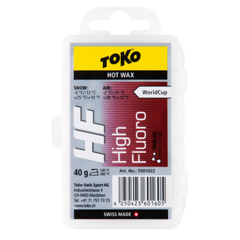 Toko Wax Toko HF Hot Wax Red High Fluoro Ski Wax - 40g