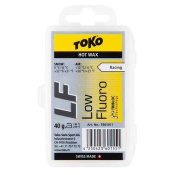 Toko Wax Toko LF Hot Wax Yellow Low Fluoro Ski Wax - 40g