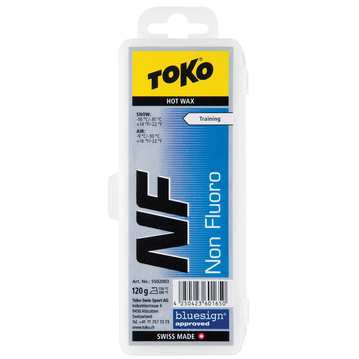 Toko Wax Toko NF Hot Wax Blue Ski and Snowboard Wax - 120G Block
