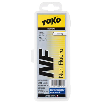 Toko Wax Toko NF Hot Wax Yellow Ski and Snowboard Wax - 120G Block