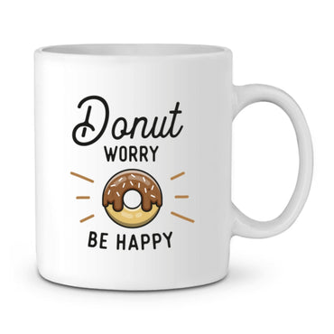 Mug - Donut Worry Be Happy - Blanc / Tu - Accessoires & Casquettes>Mugs