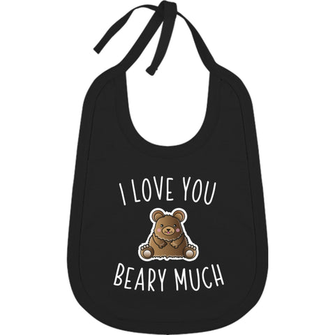 Bavoir Coton - I Love You Beary Much - Black / Tu - Enfant & Bébé>Bavoirs