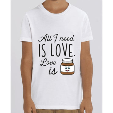Tee Shirt Garçon - All I need is love - White / 3/4 ans - Enfant & Bébé>T-shirts