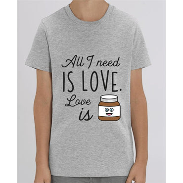 Tee Shirt Garçon - All I need is love - Heather Grey / 3/4 ans - Enfant & Bébé>T-shirts