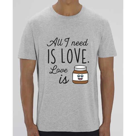 T-Shirt Homme - All I need is love - Heather Grey / XXS - Homme>Tee-shirts