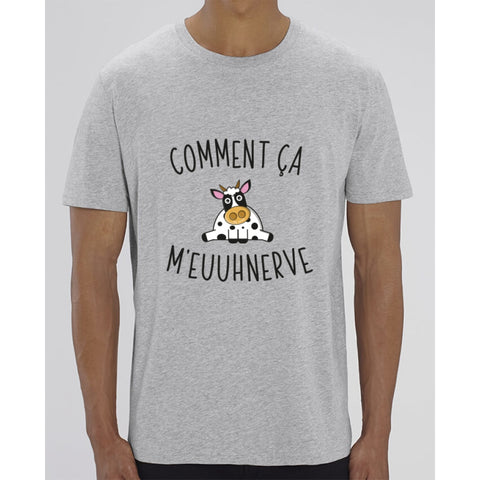 T-Shirt Homme - Comment ça meuuhnerve - Heather Grey / XXS - Homme>Tee-shirts