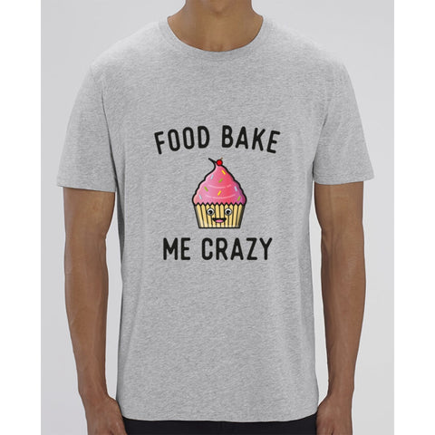 T-Shirt Homme - Food bake me crazy - Heather Grey / XXS - Homme>Tee-shirts