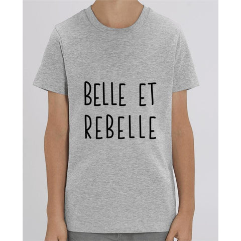 T-shirt Fille - Belle et rebelle - Heather Grey / 3/4 ans - Enfant & Bébé>T-shirts