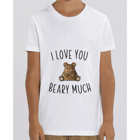 T-shirt Fille - I love you beary much - White / 3/4 ans - Enfant & Bébé>T-shirts