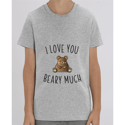 T-shirt Fille - I love you beary much - Heather Grey / 3/4 ans - Enfant & Bébé>T-shirts
