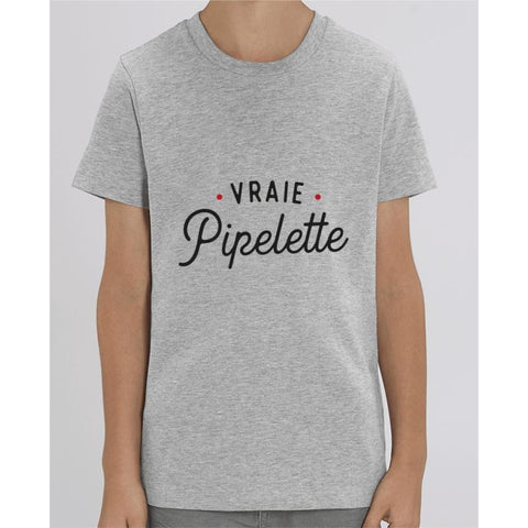T-shirt Fille - Vraie pipelette - Heather Grey / 3/4 ans - Enfant & Bébé>T-shirts