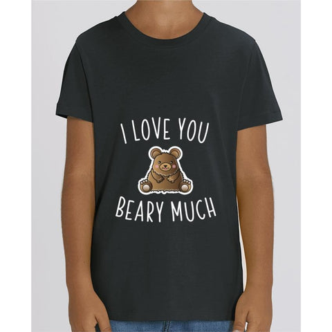 T-shirt Fille - I love you beary much - Black / 3/4 ans - Enfant & Bébé>T-shirts