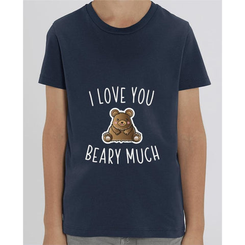 T-shirt Fille - I love you beary much - French Navy / 3/4 ans - Enfant & Bébé>T-shirts