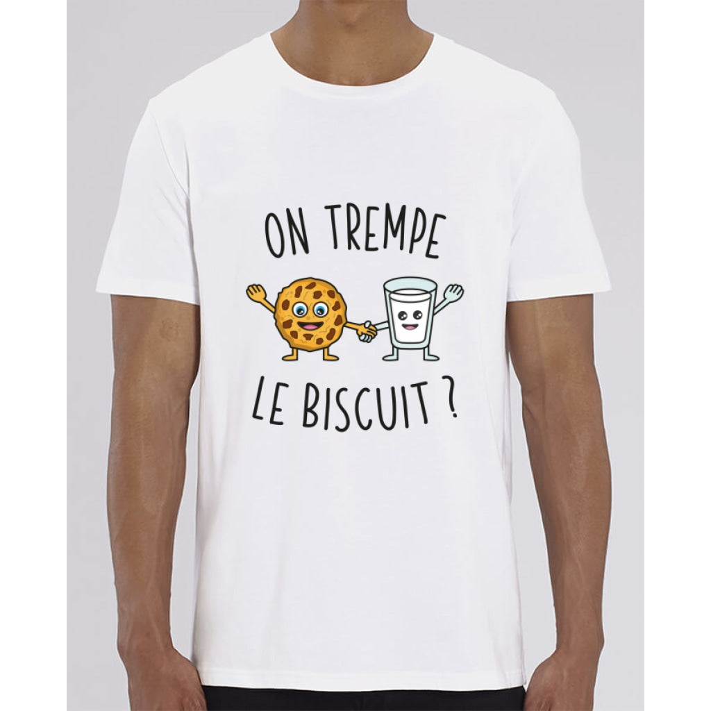 T-Shirt Homme - On trempe le biscuit - White / XXS - Homme>Tee-shirts
