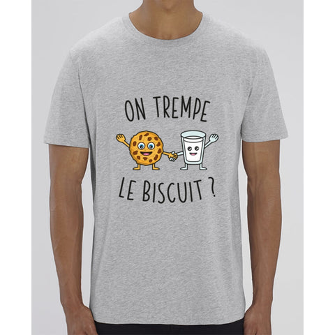 T-Shirt Homme - On trempe le biscuit - Heather Grey / XXS - Homme>Tee-shirts