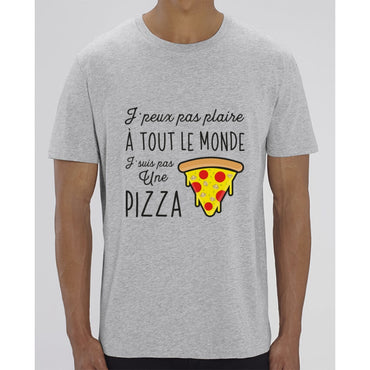 T-Shirt Homme - Pizza - Heather Grey / XXS - Homme>Tee-shirts
