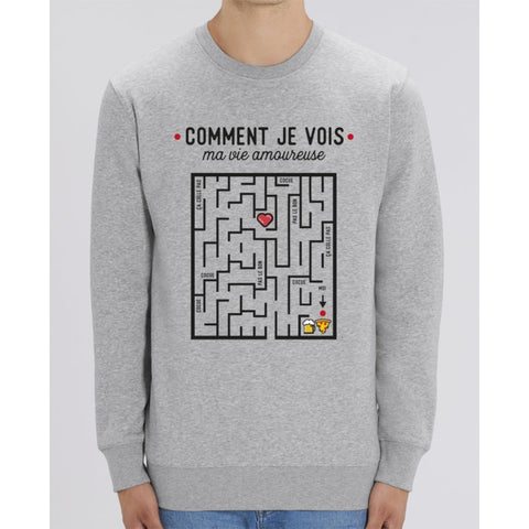 Sweat Unisexe - Comment je vois ma vie amoureuse - Heather Grey / XXS - Unisexe>Sweatshirts
