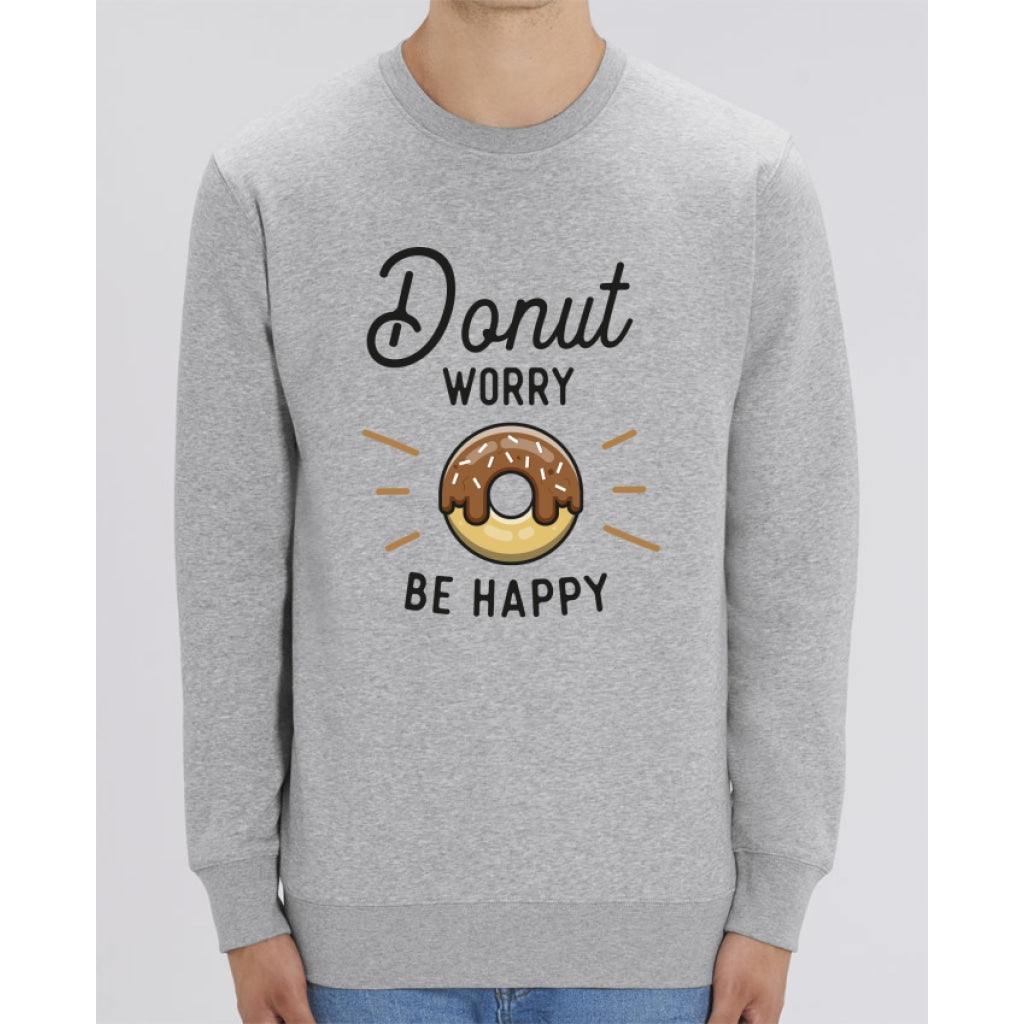 Sweat Unisexe - Donut worry be happy - Heather Grey / XXS - Unisexe>Sweatshirts