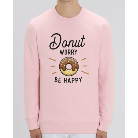 Sweat Unisexe - Donut worry be happy - Cotton Pink / XS - Unisexe>Sweatshirts