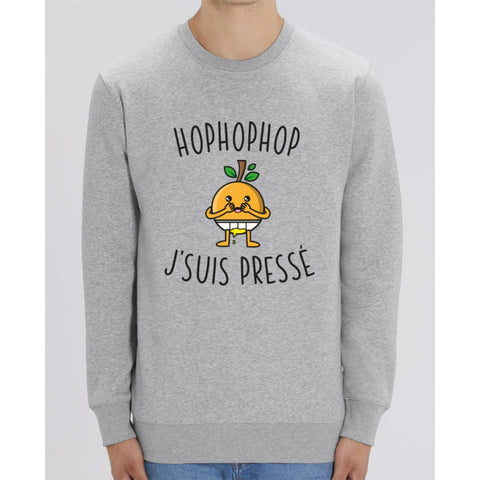 Sweat Unisexe - Hophophop jsuis pressé - Heather Grey / XXS - Unisexe>Sweatshirts