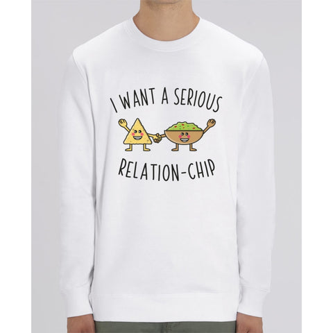 Sweat Unisexe - I want a serious relation-chip - White / XS - Unisexe>Sweatshirts