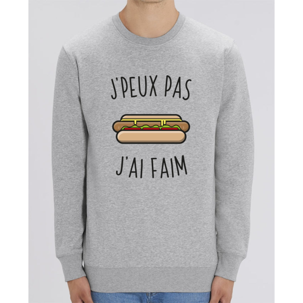 Sweat Unisexe - Jpeux pas jai faim - Heather Grey / XXS - Unisexe>Sweatshirts