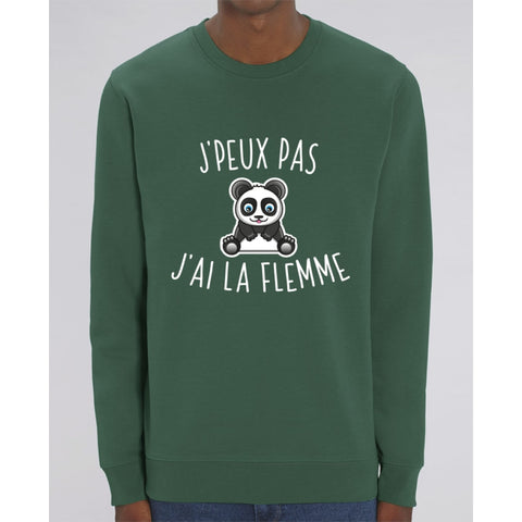 Sweat Unisexe - Jpeux pas jai la flemme - Bottle Green / XS - Unisexe>Sweatshirts