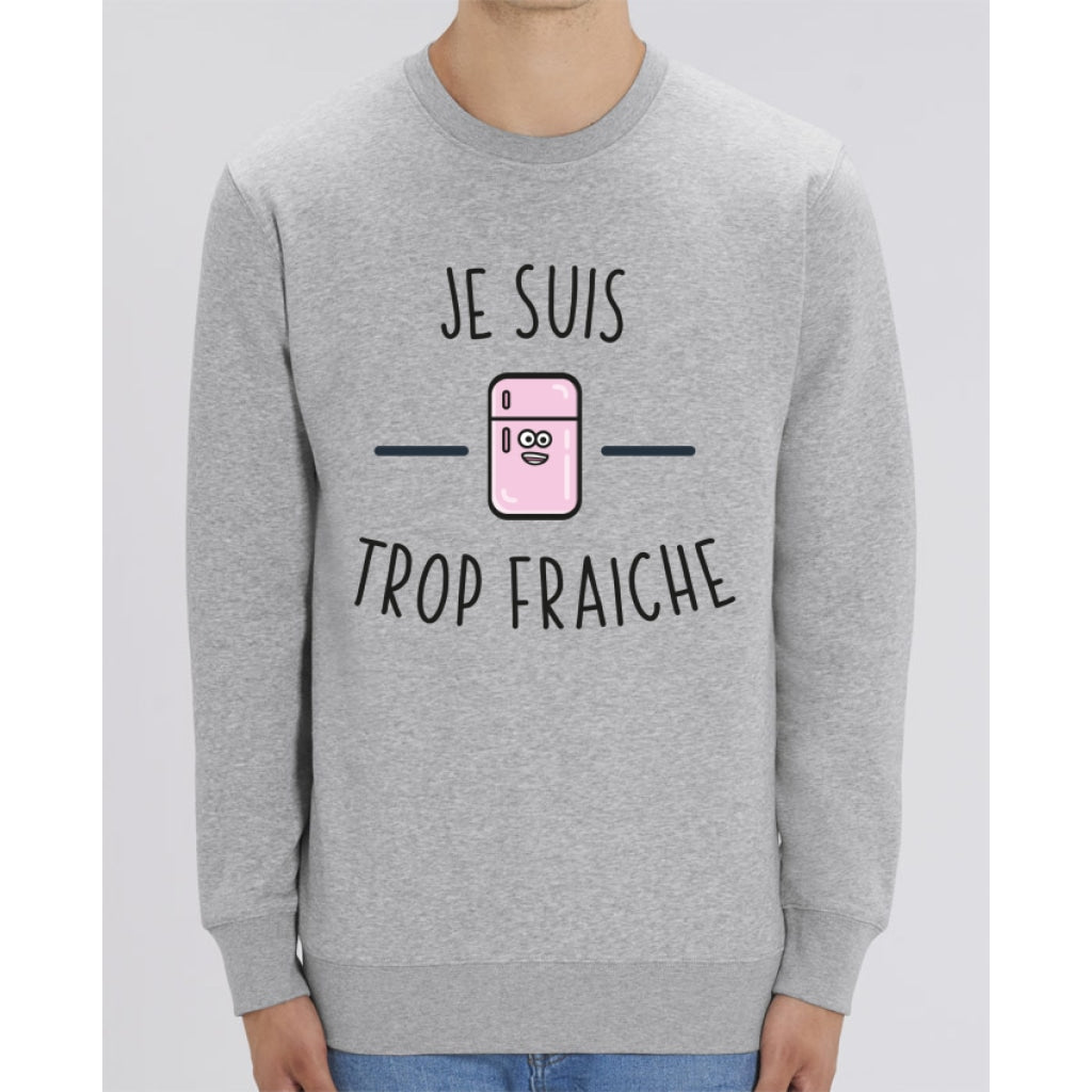 Sweat Unisexe - Je suis trop fraiche - Heather Grey / XXS - Unisexe>Sweatshirts