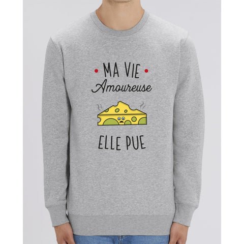 Sweat Unisexe - Ma vie amoureuse elle pue - Heather Grey / XXS - Unisexe>Sweatshirts