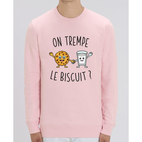 Sweat Unisexe - On trempe le biscuit - Cotton Pink / XS - Unisexe>Sweatshirts