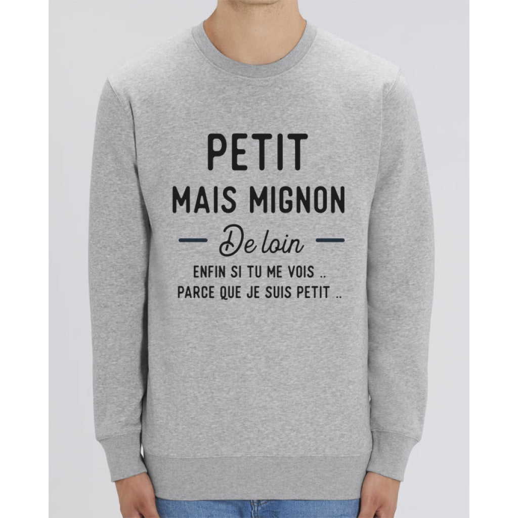 Sweat Unisexe - Petit mais mignon de loin - Heather Grey / XXS - Unisexe>Sweatshirts