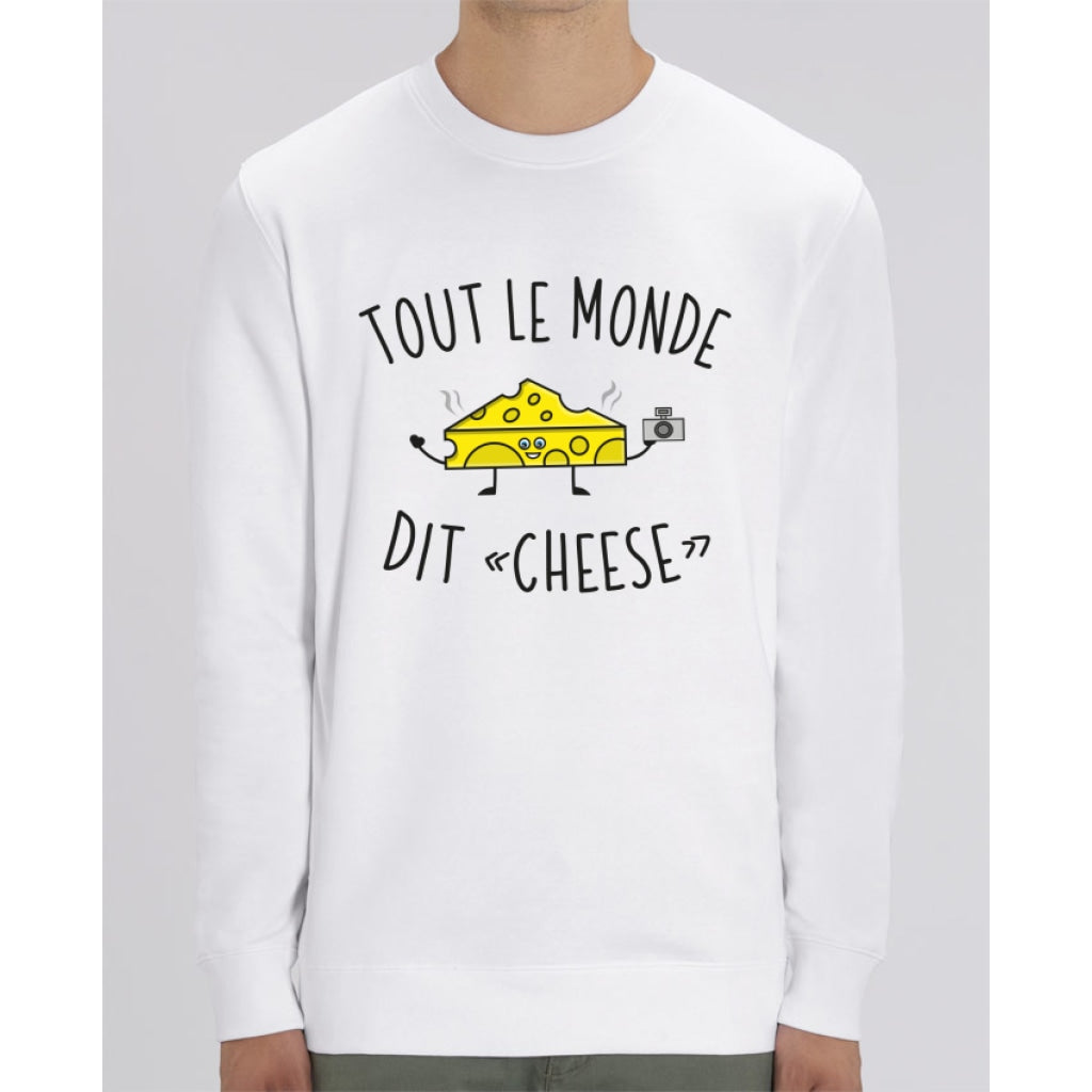 Sweat Unisexe - Tout le monde dit cheese - White / XS - Unisexe>Sweatshirts