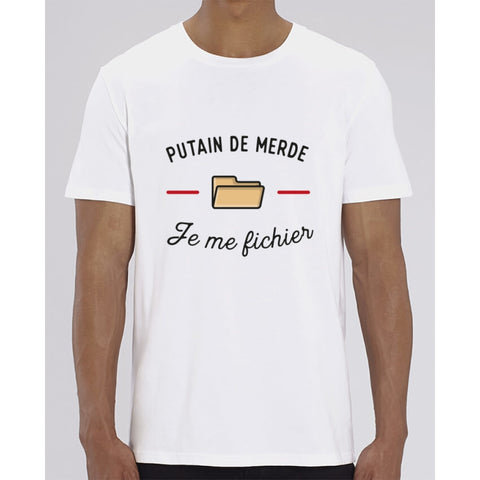 T-Shirt Homme - Je me fichier - White / XXS - Homme>Tee-shirts