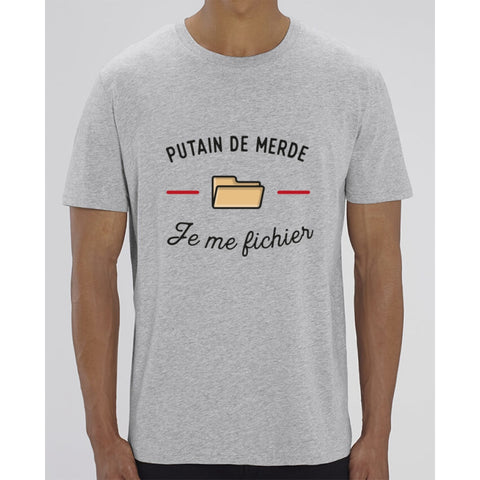 T-Shirt Homme - Je me fichier - Heather Grey / XXS - Homme>Tee-shirts