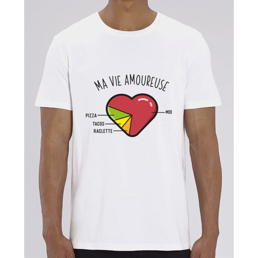 T-Shirt Homme - Ma vie amoureuse - White / XXS - Homme>Tee-shirts