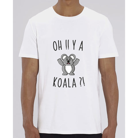 T-Shirt Homme - Oh y a koala - White / XXS - Homme>Tee-shirts